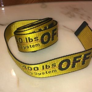 Off White Belt Yellow